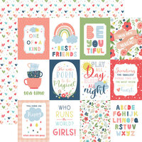 Echo Park - Little Dreamer Girl Collection - 12 x 12 Double Sided Paper - 3 x 4 Journaling Cards
