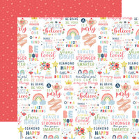 Echo Park - Little Dreamer Girl Collection - 12 x 12 Double Sided Paper - You Are Magic