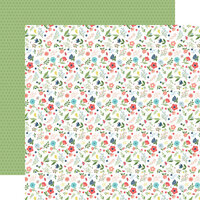 Echo Park - Little Dreamer Girl Collection - 12 x 12 Double Sided Paper - Pocketful of Posies