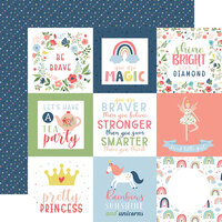 Echo Park - Little Dreamer Girl Collection - 12 x 12 Double Sided Paper - 4 x 4 Journaling Cards