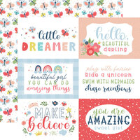 Echo Park - Little Dreamer Girl Collection - 12 x 12 Double Sided Paper - 6 x 4 Journaling Cards