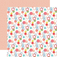 Echo Park - Little Dreamer Girl Collection - 12 x 12 Double Sided Paper - Dancing Dots