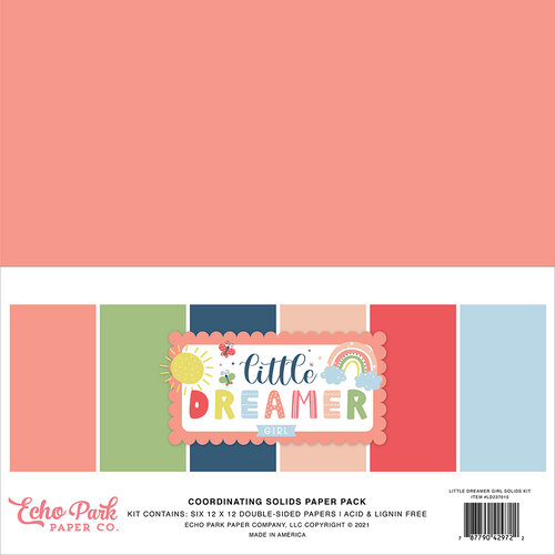 Echo Park - Little Dreamer Girl Collection - 12 x 12 Paper Pack - Solids