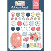 Echo Park - Little Dreamer Girl Collection - Self Adhesive Decorative Brads