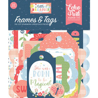 Echo Park - Little Dreamer Girl Collection - Ephemera - Frames and Tags