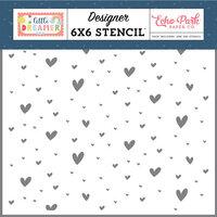 Echo Park - Little Dreamer Girl Collection - 6 x 6 Stencil - Magical Hearts