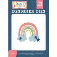 Echo Park - Little Dreamer Girl Collection - Designer Dies - Dreamy Rainbow