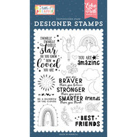 Echo Park - Little Dreamer Girl Collection - Clear Photopolymer Stamps - Best Friends