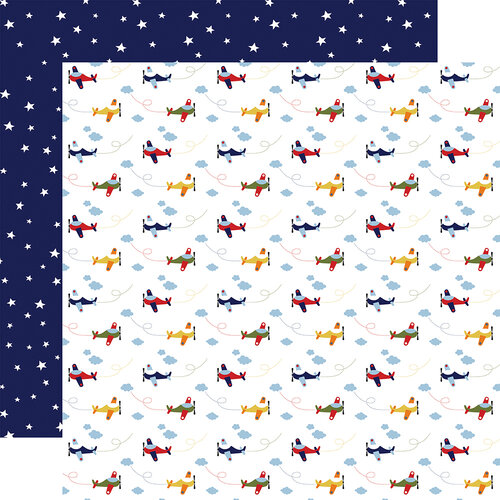 Echo Park - Little Dreamer Boy Collection - 12 x 12 Double Sided Paper - Planes Palooza