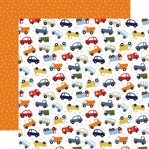 Echo Park - Little Dreamer Boy Collection - 12 x 12 Double Sided Paper - Traffic Jam