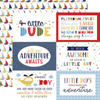 Echo Park - Little Dreamer Boy Collection - 12 x 12 Double Sided Paper - 6 x 4 Journaling Cards