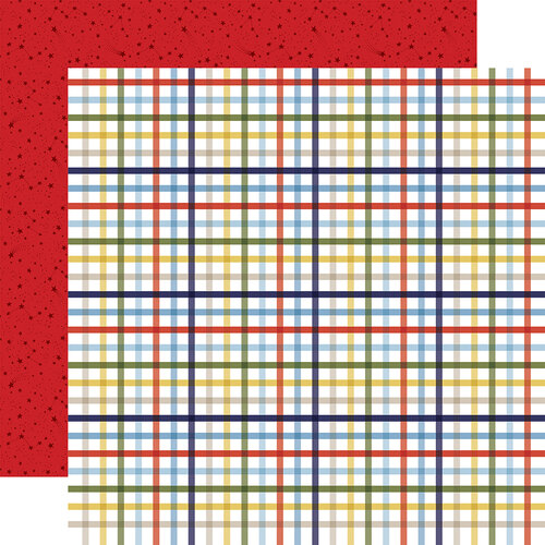 Echo Park - Little Dreamer Boy Collection - 12 x 12 Double Sided Paper - Playtime Plaid