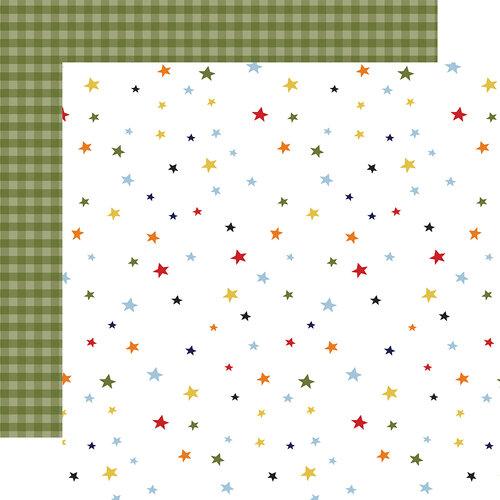Echo Park - Little Dreamer Boy Collection - 12 x 12 Double Sided Paper - Twinkle Twinkle
