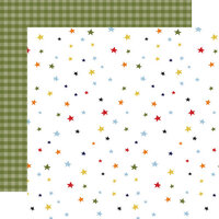 Echo Park - Little Dreamer Boy Collection - 12 x 12 Double Sided Paper - Twinkle Twinkle