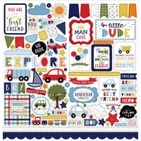 Echo Park - Little Dreamer Boy Collection - 12 x 12 Cardstock Stickers - Elements