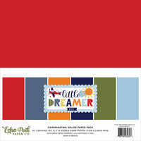 Echo Park - Little Dreamer Boy Collection - 12 x 12 Paper Pack - Solids