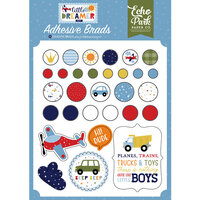Echo Park - Little Dreamer Boy Collection - Self Adhesive Decorative Brads