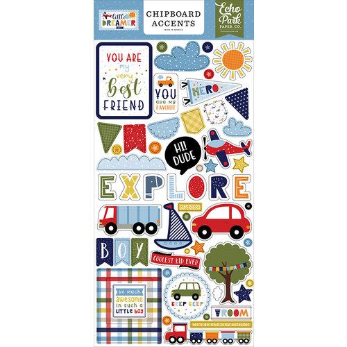 Echo Park - Little Dreamer Boy Collection - Chipboard Embellishments - Accents