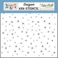 Echo Park - Little Dreamer Boy Collection - 6 x 6 Stencil - Explore Stars