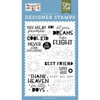 Echo Park - Little Dreamer Boy Collection - Clear Photopolymer Stamps - Never Stop Exploring
