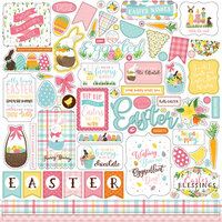 Echo Park - I Love Easter Collection - 12 x 12 Cardstock Sticker - Elements