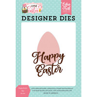 Echo Park - I Love Easter Collection - Decorative Dies - Happy Easter Egg