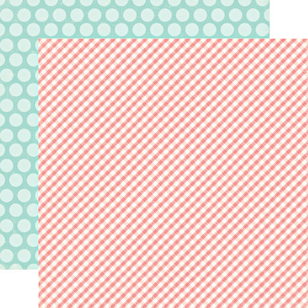Echo Park - Little Girl Collection - 12 x 12 Double Sided Paper - Gingham Gaby