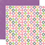 Echo Park - Little Girl Collection - 12 x 12 Double Sided Paper - Cindy Circles