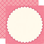Echo Park - Little Girl Collection - 12 x 12 Double Sided Paper - Danielle Doily