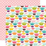 Echo Park - Little Girl Collection - 12 x 12 Double Sided Paper - Chloe Crowns