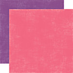 Echo Park - Little Girl Collection - 12 x 12 Double Sided Paper - Raspberry and Grape