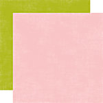 Echo Park - Little Girl Collection - 12 x 12 Double Sided Paper - Blush and Leaf