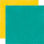 Echo Park - Little Girl Collection - 12 x 12 Double Sided Paper - Teal and Canary, CLEARANCE