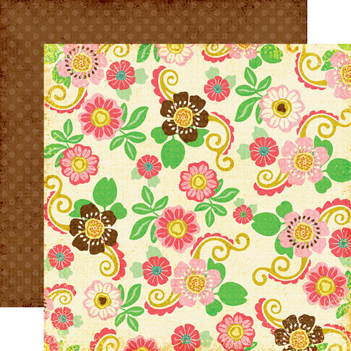 Echo Park - Life is Good Collection - 12 x 12 Double Sided Paper - Floral Dress, CLEARANCE