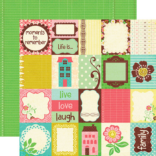 Echo Park - Life is Good Collection - 12 x 12 Double Sided Paper - Journal Cards, CLEARANCE