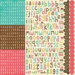 Echo Park - Life is Good Collection - 12 x 12 Cardstock Stickers - Alphabet, CLEARANCE