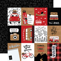 Echo Park - Let's Go Anywhere Collection - 12 x 12 Double Sided Paper - 3 x 4 Journaling Cards