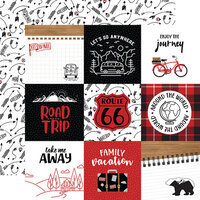 Echo Park - Let's Go Anywhere Collection - 12 x 12 Double Sided Paper - 4 x 4 Journaling Cards