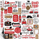 Echo Park - Let's Go Anywhere Collection - 12 x 12 Cardstock Stickers - Elements