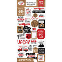 Echo Park - Let's Go Anywhere Collection - Chipboard Stickers - Phrases
