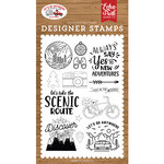 Echo Park - Let's Go Anywhere Collection - Clear Photopolymer Stamps - New Adventures