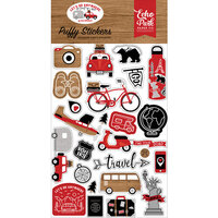 Echo Park - Let's Go Anywhere Collection - Puffy Stickers