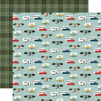 Echo Park - Let's Go Camping Collection - 12 x 12 Double Sided Paper - Happy Campers