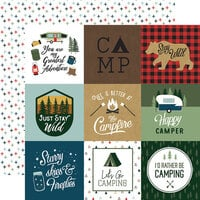 Echo Park - Let's Go Camping Collection - 12 x 12 Double Sided Paper - 4 x 4 Journaling Cards