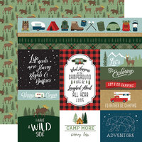 Echo Park - Let's Go Camping Collection - 12 x 12 Double Sided Paper - Multi Journaling Cards