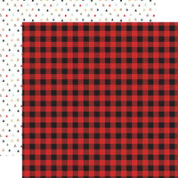 Echo Park - Let's Go Camping Collection - 12 x 12 Double Sided Paper - Wild Plaid