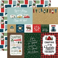 Echo Park - Let's Go Camping Collection - 12 x 12 Double Sided Paper - 4 x 6 Journaling Cards