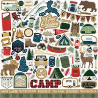 Echo Park - Let's Go Camping Collection - 12 x 12 Element Stickers