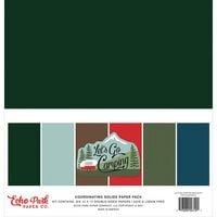 Echo Park - Let's Go Camping Collection - 12 x 12 Paper Pack - Solids