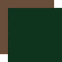 Echo Park - Let's Go Camping Collection - 12 x 12 Double Sided Paper - Green and Brown